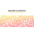 delivery logistics concept vector image vector image