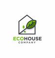eco house logo design vector image vector image