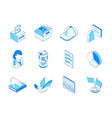 election and voting - modern line isometric icons vector image