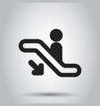 escalator elevator icon business concept vector image