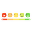 feedback emotion scale customers feedback vector image vector image