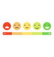 feedback emotion scale customers vector image vector image