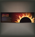 fire flame banner on gray vector image