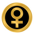 gender female symbol button vector image vector image