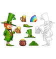 gnome leprechaun with mug vector image