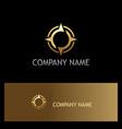 gold star navigation technology logo vector image