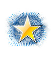 gold star on the blue background vector image vector image