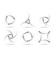 halftone circular dot frame set circle dots icons vector image vector image