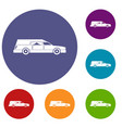 hearse icons set vector image vector image