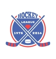 Hockey label vector image