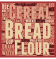 How To Bake Multi grain Bread text background vector image vector image