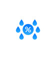 humidity water icon temperature dry air vector image