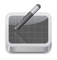 Icon for pen tablet vector image vector image