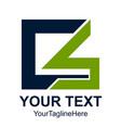 initial letter cs logo design template element vector image vector image