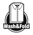 laundry shirt wash and fold logo simple style vector image