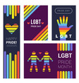 lgbt banners pride rainbow colored backgrounds vector image