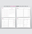 life planner 2018 vector image