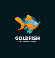 logo goldfish gradient colorful style vector image