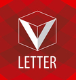 logo the letter V in the form of a cube vector image