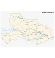 map central china s hubei province vector image