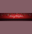 merry christmas lettering with redorangegold vector image
