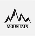 mountains isolated on a white backgrounds vector image vector image