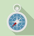 navigation ship compass icon flat style vector image