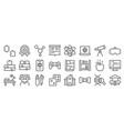 nerd line icons linear set quality line set vector image vector image