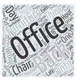 office furniture chair Word Cloud Concept vector image vector image