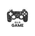 old game logo icon design template vector image