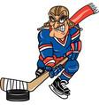 pilot sports logo mascot hockey vector image vector image