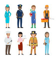 Professions people cartoon characters icons set
