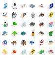 public park icons set isometric style vector image vector image
