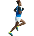 runner low poly vector image vector image