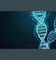science template for your design futuristic dna vector image