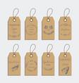 set of retro organic cardboard labels vector image vector image