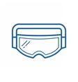 Ski Goggles Icon vector image vector image