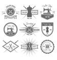 Tailor shop set monochrome emblems