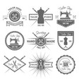 tailor shop set of monochrome emblems vector image