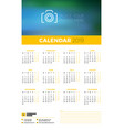 wall calendar poster template for 2019 year week vector image vector image
