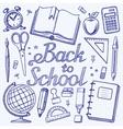 Back toschool doodle background vector image
