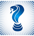 Blue simple snake logo vector image