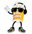 popcorn for movie theater and cinema vector image