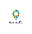 abstract business company logo map pin gps vector image vector image