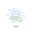 advice line concept simple line icon colored vector image