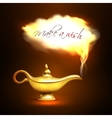Aladdin Lamp Cloud Concept vector image