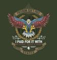 american eagle veteran vector image vector image