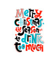anti christmas lettering vector image vector image