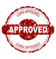 approved loan rubber stamp vector image vector image