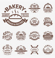 bakery badge icon fashion modern style wheat vector image vector image